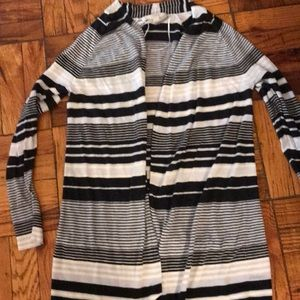 Striped summer open cardigan